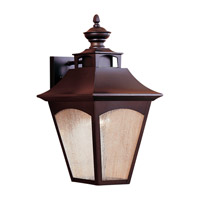 Homestead 1 Light 19 inch Oil Rubbed Bronze Outdoor Wall Lantern in Fluorescent
