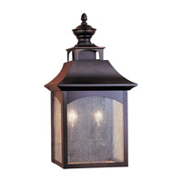 Homestead 2 Light 18 inch Oil Rubbed Bronze Outdoor Wall Sconce