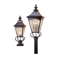 Feiss Homestead 1 Light Outdoor Post Lantern in Oil Rubbed Bronze OL1007ORB-F