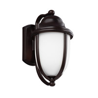 Vintner Outdoor 1 Light 12 inch Heritage Bronze Outdoor Wall Lantern in Fluorescent