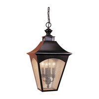 Homestead 4 Light 13 inch Oil Rubbed Bronze Outdoor Hanging Lantern
