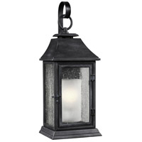 Shepherd 1 Light 19 inch Dark Weathered Zinc Outdoor Wall Sconce in Standard
