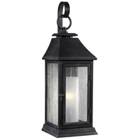 Feiss Shepherd 1 Light Outdoor Wall Sconce in Dark Weathered Zinc OL10603DWZ