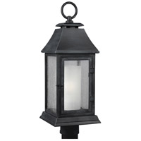 Shepherd 1 Light 24 inch Dark Weathered Zinc Outdoor Post Lantern in Standard