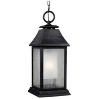 Shepherd 1 Light 9 inch Dark Weathered Zinc Outdoor Pendant in Standard
