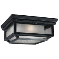 Shepherd 2 Light 13 inch Dark Weathered Zinc Outdoor Flush Mount in Standard