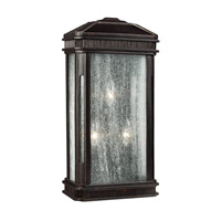 Feiss Federal 3 Light Outdoor Wall Sconce in Gilded Bronze OL10802GBZ