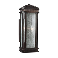 Federal 3 Light 19 inch Gilded Bronze Outdoor Wall Sconce