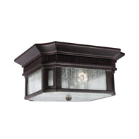 Feiss Federal 2 Light Outdoor Flush Mount in Gilded Bronze OL10813GBZ-F