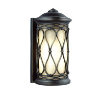 Feiss Wellfleet 1 Light Outdoor Wall Sconce in Aged Bronze OL10900ABR