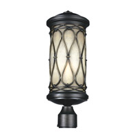 Feiss Wellfleet 1 Light Outdoor Post Lantern in Aged Bronze OL10907ABR