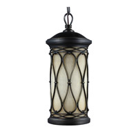 Feiss Wellfleet 1 Light Outdoor Pendant in Aged Bronze OL10909ABR