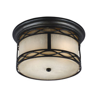 Wellfleet 1 Light 13 inch Aged Bronze Outdoor Flush Mount in Standard