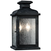 Feiss OL11100DWZ Pediment 2 Light 13 inch Dark Weathered Zinc Outdoor Wall Sconce