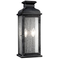 Feiss Pediment 2 Light Outdoor Wall Sconce in Dark Weathered Zinc OL11101DWZ