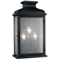 Feiss Pediment 3 Light Outdoor Wall Sconce in Dark Weathered Zinc OL11104DWZ