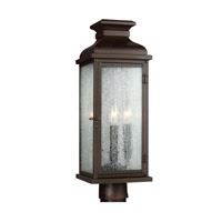 Feiss Pediment 2 Light Outdoor Post Lantern in Dark Aged Copper OL11107DAC