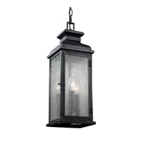 Pediment 2 Light 7 inch Dark Weathered Zinc Outdoor Pendant