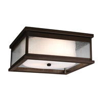 Pediment 2 Light 13 inch Dark Aged Copper Outdoor Flush Mount in Standard