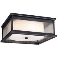 Feiss Pediment 2 Light Outdoor Flush Mount in Dark Weathered Zinc OL11113DWZ