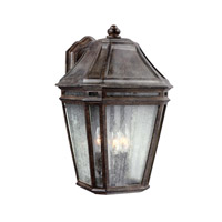 Feiss Londontowne 3 Light Outdoor Wall Sconce in Weathered Chestnut OL11302WCT