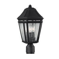 Londontowne 3 Light 17 inch Black Outdoor Post Lantern in Standard