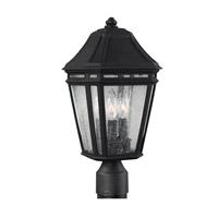 Feiss OL11307BK Londontowne 3 Light 17 inch Black Outdoor Post Lantern