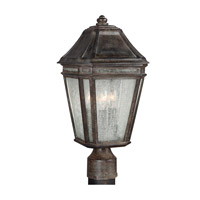 Feiss OL11307WCT Londontowne 3 Light 17 inch Weathered Chestnut Outdoor Post Lantern