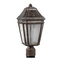 Feiss OL11307WCT-LED Londontowne 3 Light 17 inch Weathered Chestnut Outdoor Post Lantern in Integrated LED