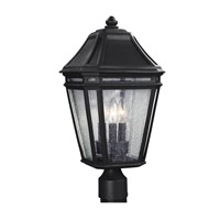 Feiss OL11308BK Londontowne 3 Light 20 inch Black Outdoor Post Lantern