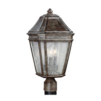Londontowne 3 Light 20 inch Weathered Chestnut Outdoor Post Lantern in Standard