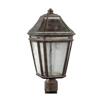 Londontowne 3 Light 20 inch Weathered Chestnut Outdoor Post Lantern in Integrated LED