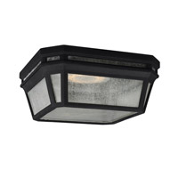 Londontowne 2 Light 12 inch Black Outdoor Flush Mount in Integrated LED
