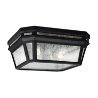 Feiss OL11313BK Londontowne 2 Light 12 inch Black Outdoor Flush Mount