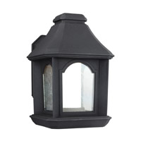 Ellerbee LED 11 inch Textured Black Outdoor Wall Lantern