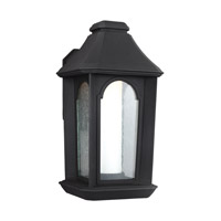 Ellerbee LED 14 inch Textured Black Outdoor Wall Lantern