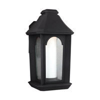 Ellerbee LED 16 inch Textured Black Outdoor Wall Lantern