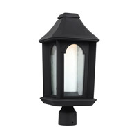 Ellerbee LED 20 inch Textured Black Post Lantern