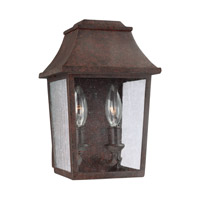 Estes 2 Light 11 inch Patina Copper Outdoor Wall Lantern