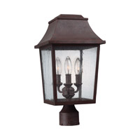 Estes 3 Light 18 inch Patina Copper Post Lantern