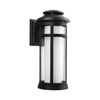 Feiss Oakfield LED Outdoor Wall Lantern in Dark Weathered Zinc with White Opal Etched and Clear Glass OL12502DWZ-LED