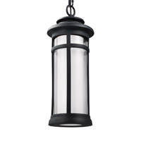 Feiss Oakfield LED Outdoor Pendant in Dark Weathered Zinc with White Opal Etched and Clear Glass OL12509DWZ-LED