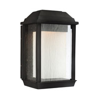 McHenry LED 7 inch Textured Black Outdoor Wall Lantern