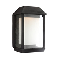McHenry LED 8 inch Textured Black Outdoor Wall Lantern