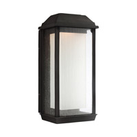 McHenry LED 18 inch Textured Black Outdoor Wall Lantern