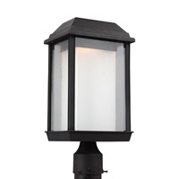 McHenry LED 17 inch Textured Black Post Lantern