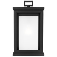 Feiss OL12901TXB Roscoe 1 Light 14 inch Textured Black Outdoor Wall Lantern, White Opal Glass alternative photo thumbnail