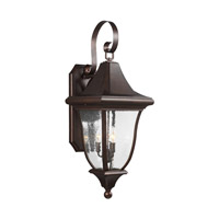 Feiss OL13102PTBZ Oakmont 3 Light 34 inch Patina Bronze Outdoor Wall Lantern