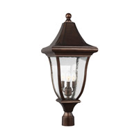 Feiss OL13107PTBZ Oakmont 3 Light 29 inch Patina Bronze Outdoor Post Lantern