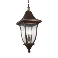 Oakmont 3 Light 12 inch Patina Bronze Outdoor Pendant